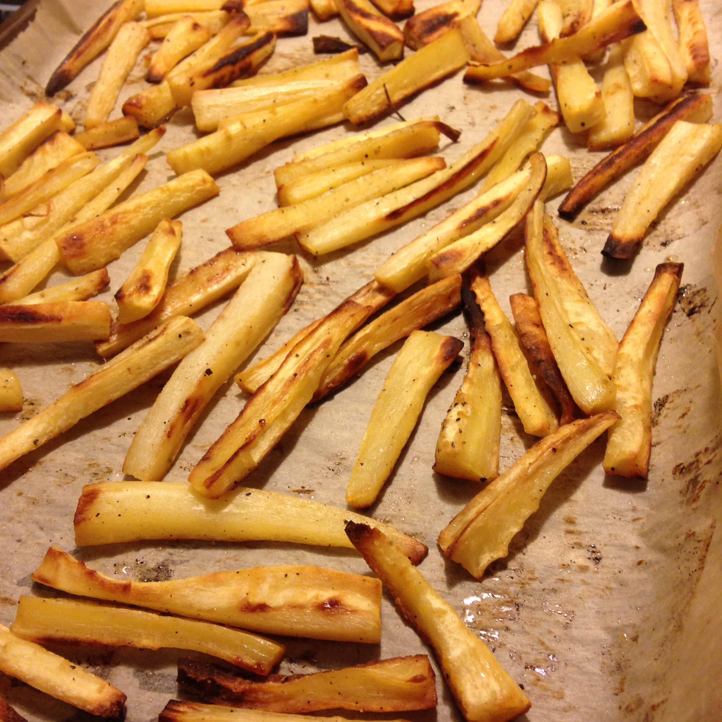 "Roasted Parsnip ""Fries"" With Curry Salt Recipe — Dishmaps"